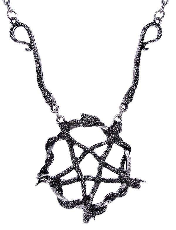 Snake pentagram pendant1