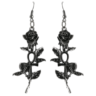Boucles Ankh Rose Silver