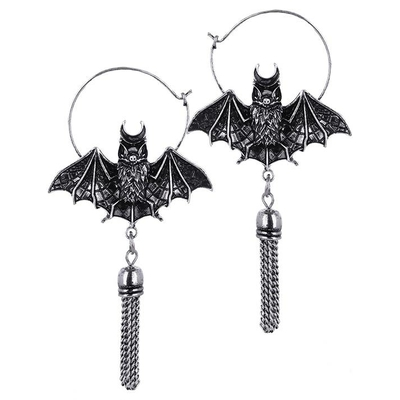 Boucles Oriental Bat Silver