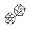 branch pentargram earrings