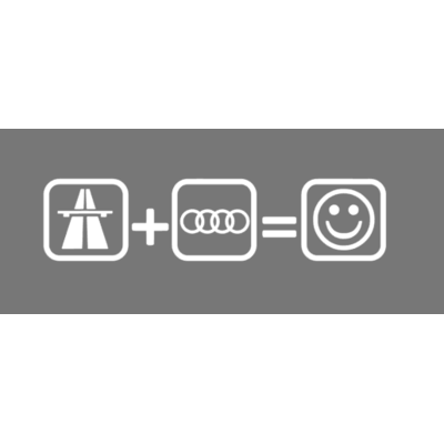 autoroute+audi=smilley