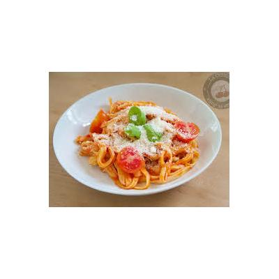 Tagliatelles Jambon crème tomate