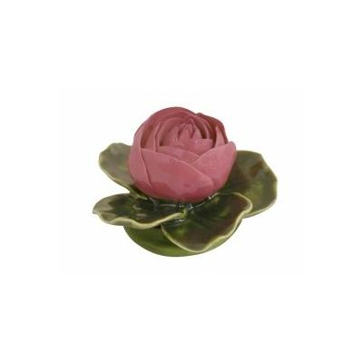 Fleur céramique socle pivoine