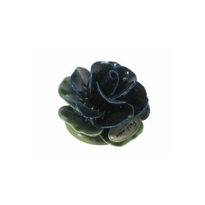 Fleur céramique socle rose