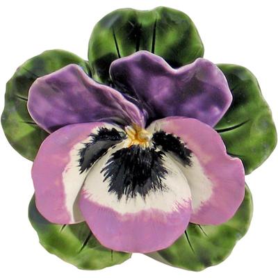 Fleur céramique socle de pensée