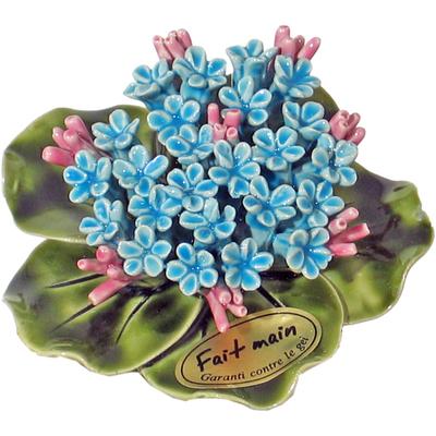 Fleurs céramique socle de myosotis