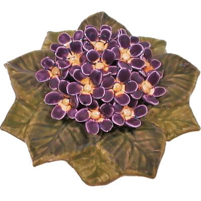 Fleurs céramique socle de violettes