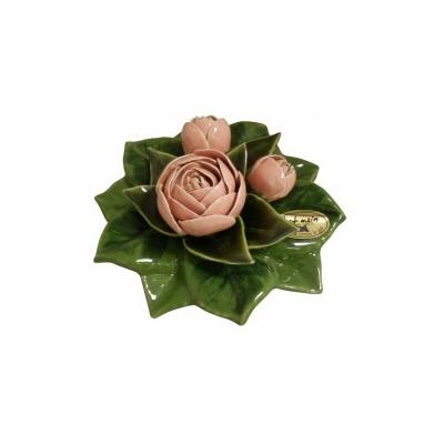 Fleurs céramique socle de pivoines rose pâle