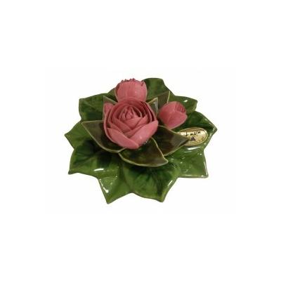 Fleurs céramique socle de pivoines