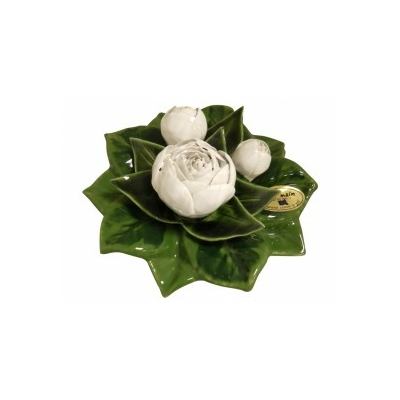 Fleurs céramique socle de pivoines blanc