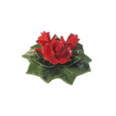 Fleurs céramique socle boutons de roses