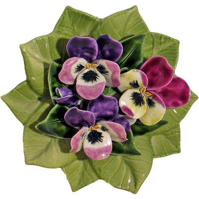 Fleurs céramique socle pensées