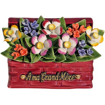 Fleurs céramique panier de nice narcisses gypsophiles
