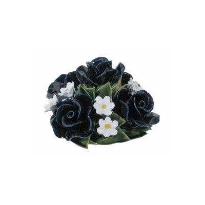 Fleurs céramique dessus vases roses fleurettes