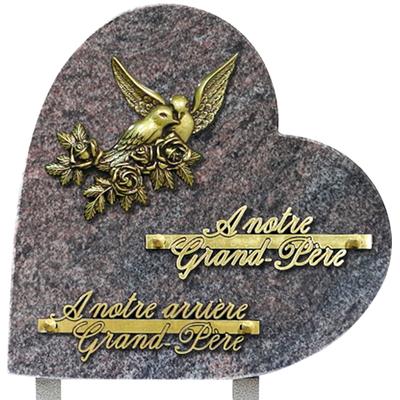 Plaque coeur granit 25x25 Paradisio