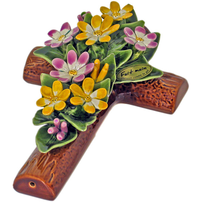 Fleurs ceramique croix marguerites