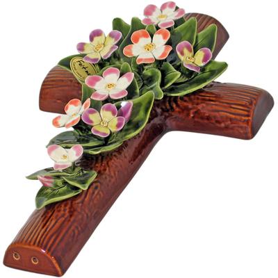 Fleurs ceramique croix primeveres