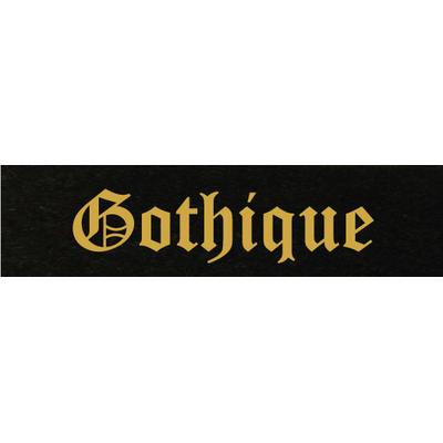 Gravure lettre or - Ecriture Gothique