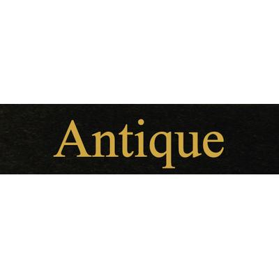 Gravure lettre or - Ecriture Antique