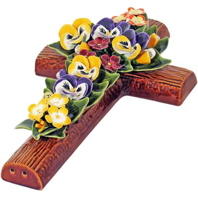 Fleurs ceramique pensées primeveres
