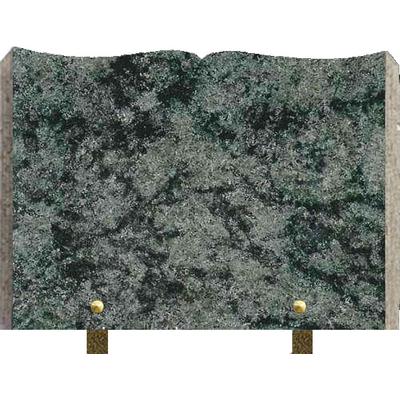 Plaque granit livre à graver vert olive