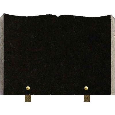 Plaque granit livre à graver Noir fin