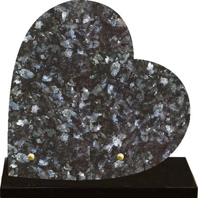 Plaque coeur granit à graver Labrador
