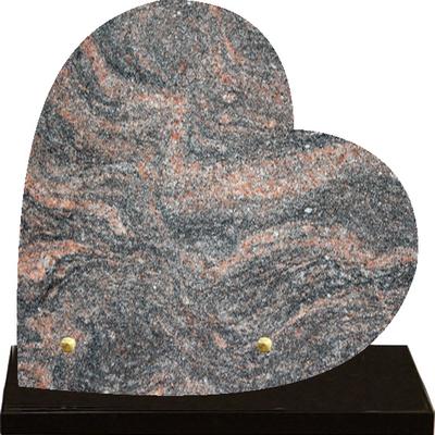 Plaque coeur granit à graver Himalaya