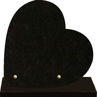 Plaque cœur granit à graver Noir fin