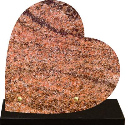 Plaque cœur granit à graver Multicolor