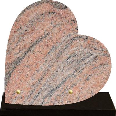 Plaque coeur granit à graver Juparana
