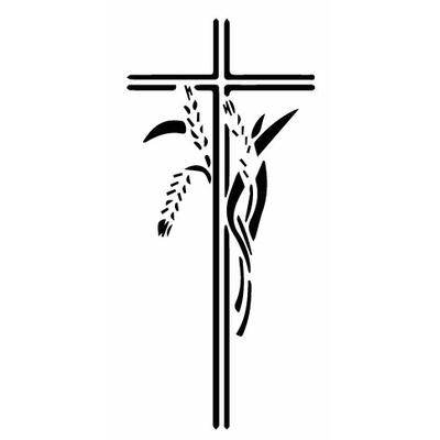 Motif à graver - croix/blé