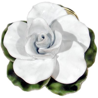 Fleur ceramique socle rose