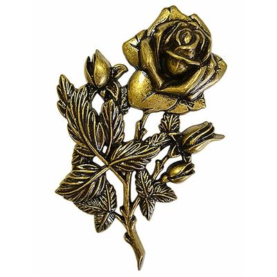 Bronze palmette de roses