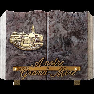 Plaque livre granit 15x20 Mass Blue