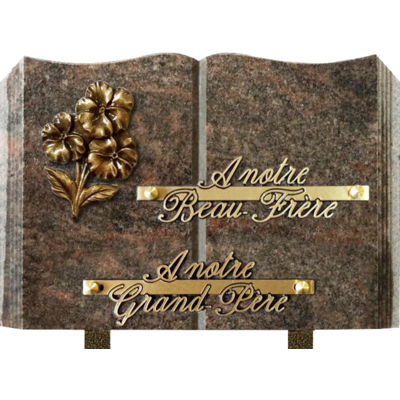 Plaque livre granit 17x25 Himalaya