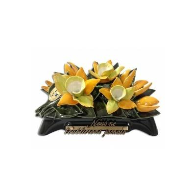 Fleurs ceramique arceau orchidées