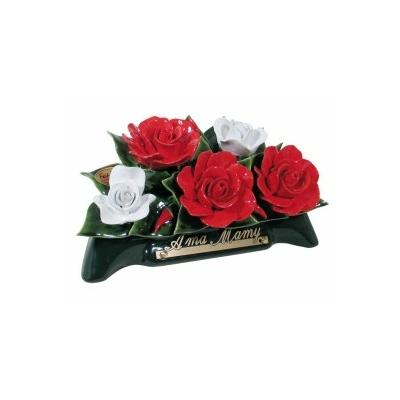 Fleurs ceramique arceau roses