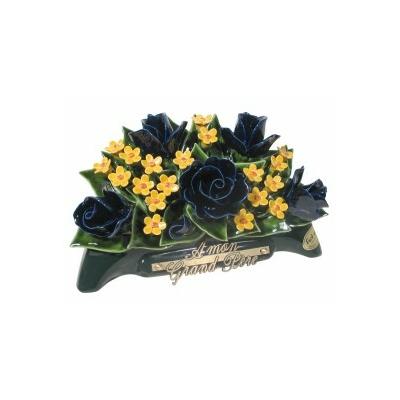 Fleurs ceramique arceau roses fleurettes