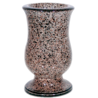 Vase céramique tulipe multicolor granité