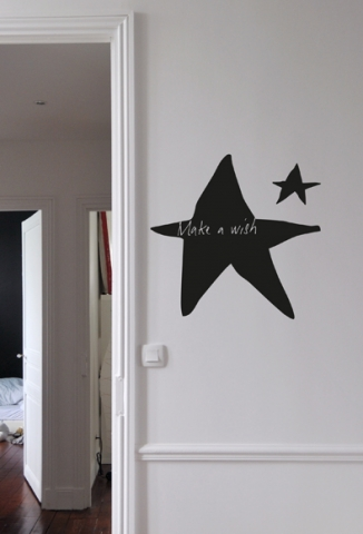 sticker poetic wall make a wish mel et kio studio le. Black Bedroom Furniture Sets. Home Design Ideas