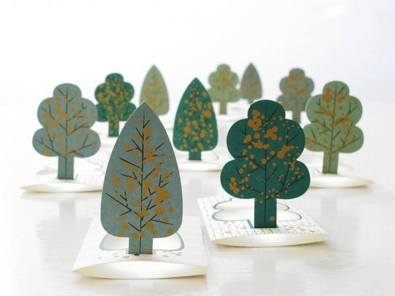 """Célèbre cartes de voeux """"forêt"""" - Jurianne Matter - forest FG02"""