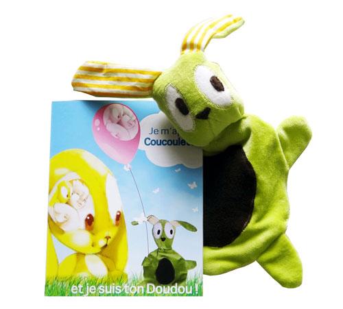 livre enfant personnalis et peluche coucoulette ton doudou cadeau naissance ou. Black Bedroom Furniture Sets. Home Design Ideas