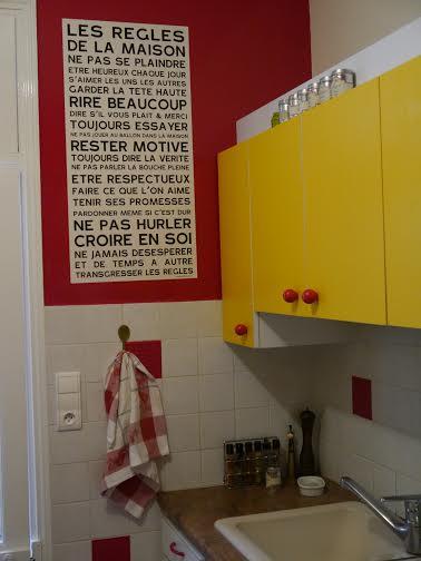 les r gles de la maison home rules poster affiche sticker. Black Bedroom Furniture Sets. Home Design Ideas