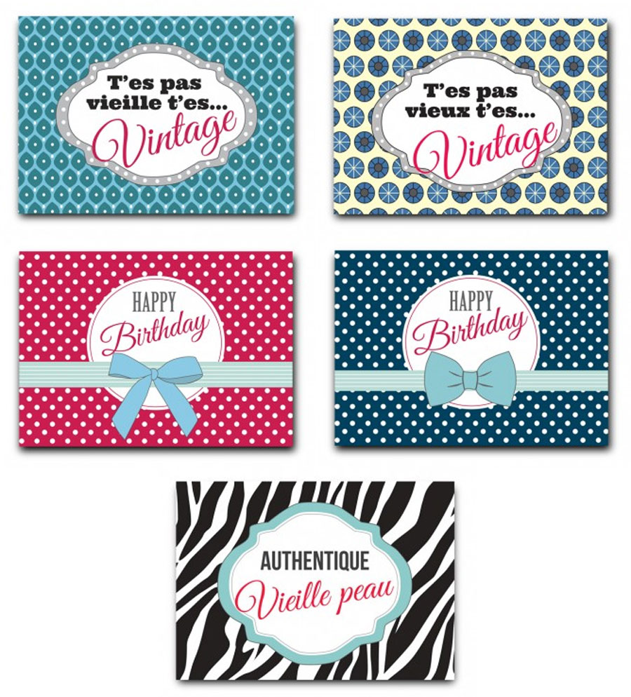 5 Cartes Postales D Anniversaire Humoristiques