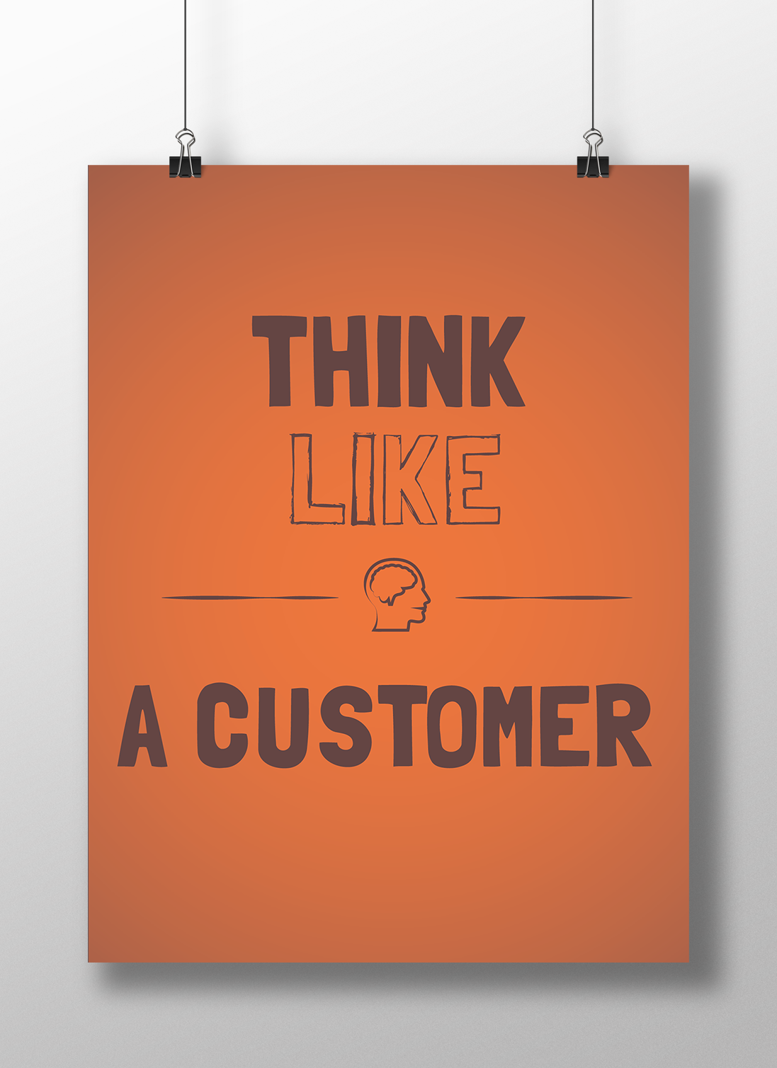 think-like-a-customer-affiche