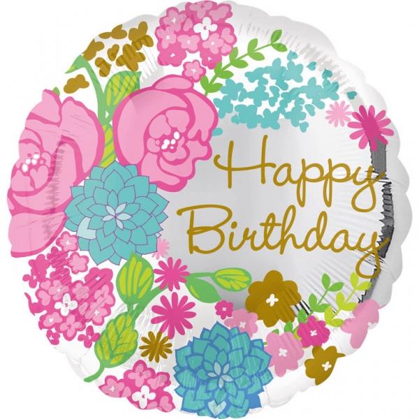 """Célèbre Ballon d'anniversaire """"bouquet de fleurs"""" JB49"""