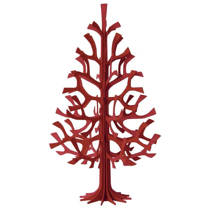 sapin en bois monter soi m me rouge 60 cm. Black Bedroom Furniture Sets. Home Design Ideas