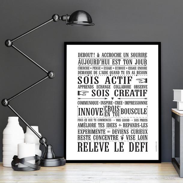 Relève Le Défi (Affiche À Encadrer) - Fond Blanc