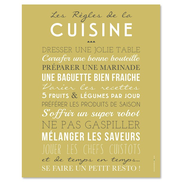 regles-de-la-cuisine-poster